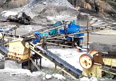 山东某地100t/h鹅luan石制砂生产xian