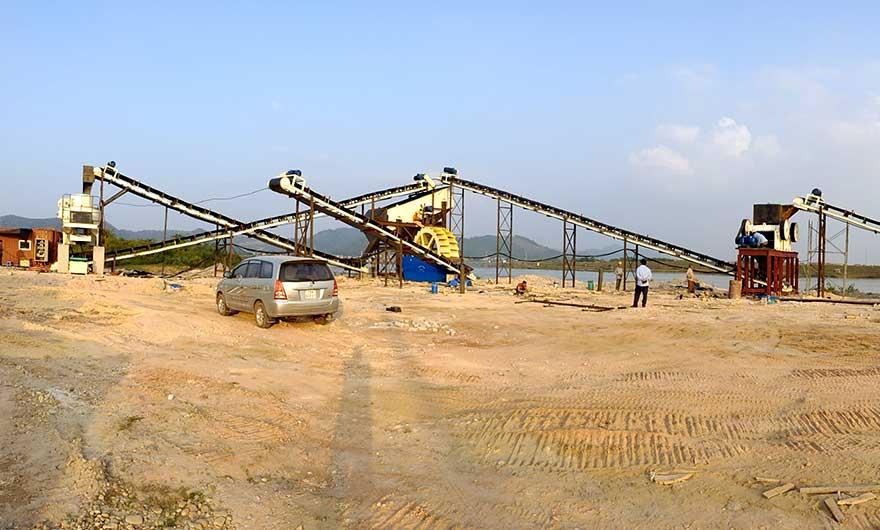 河南安yang时产300吨砂shiliaosheng产线
