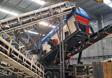 济源封闭式移动制砂生产xian现场