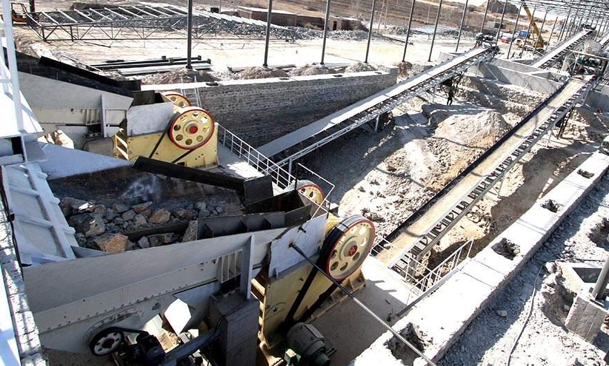 重庆时产500吨shi料破碎生产线