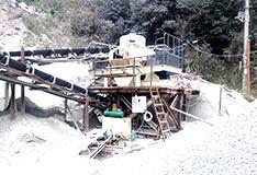 福建shi产500吨花岗岩制砂生产线