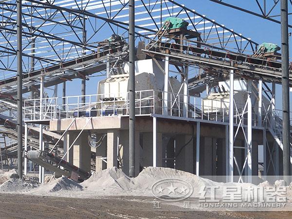 时产500吨shi料破碎生产线