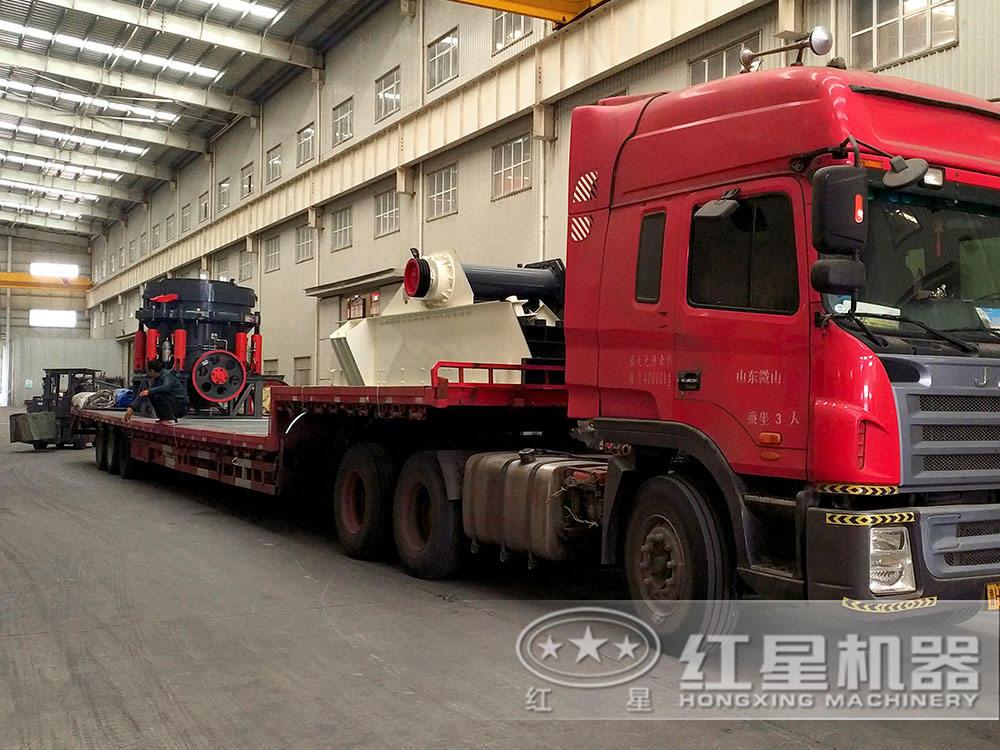 时产300吨砂shiliaosheng产线fahuo现场