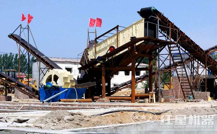 xi砂机作业现场