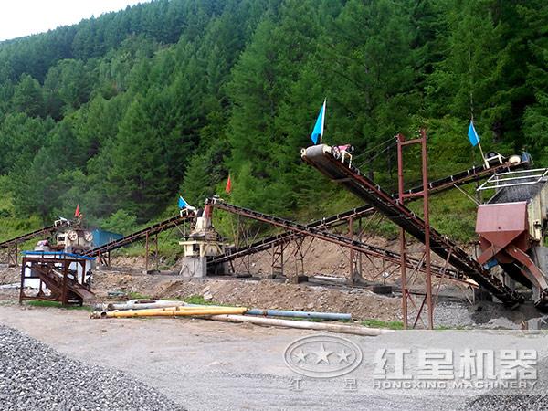 福建时产500吨hua岗yan制砂生产线
