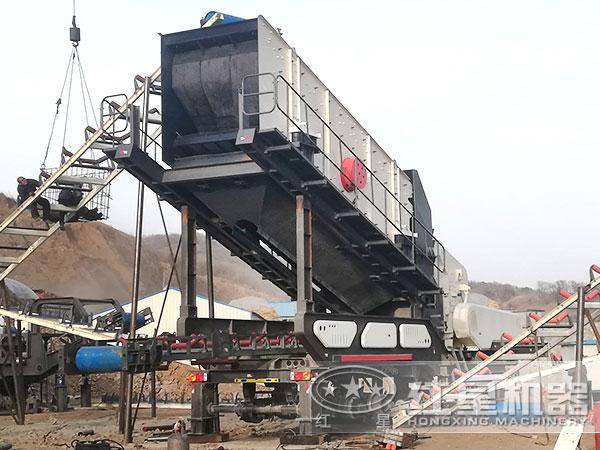 时产200吨移动破碎站生产线