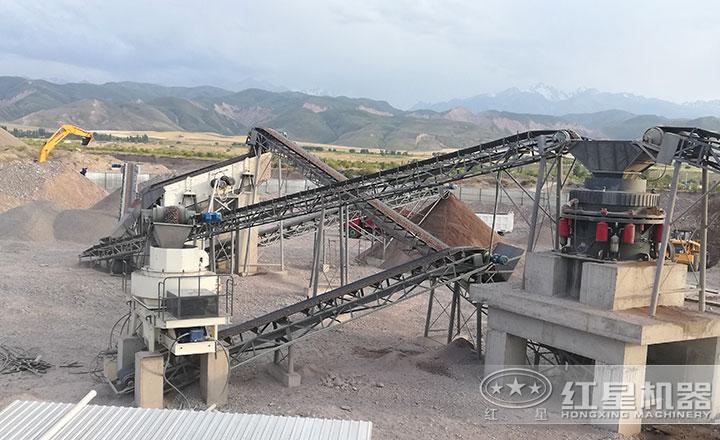 河南平dingshan时产500吨的制砂生产线